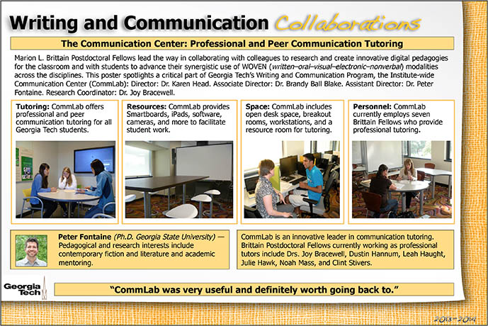 Poster About the Communication Center - Follow Link for Accessible Version